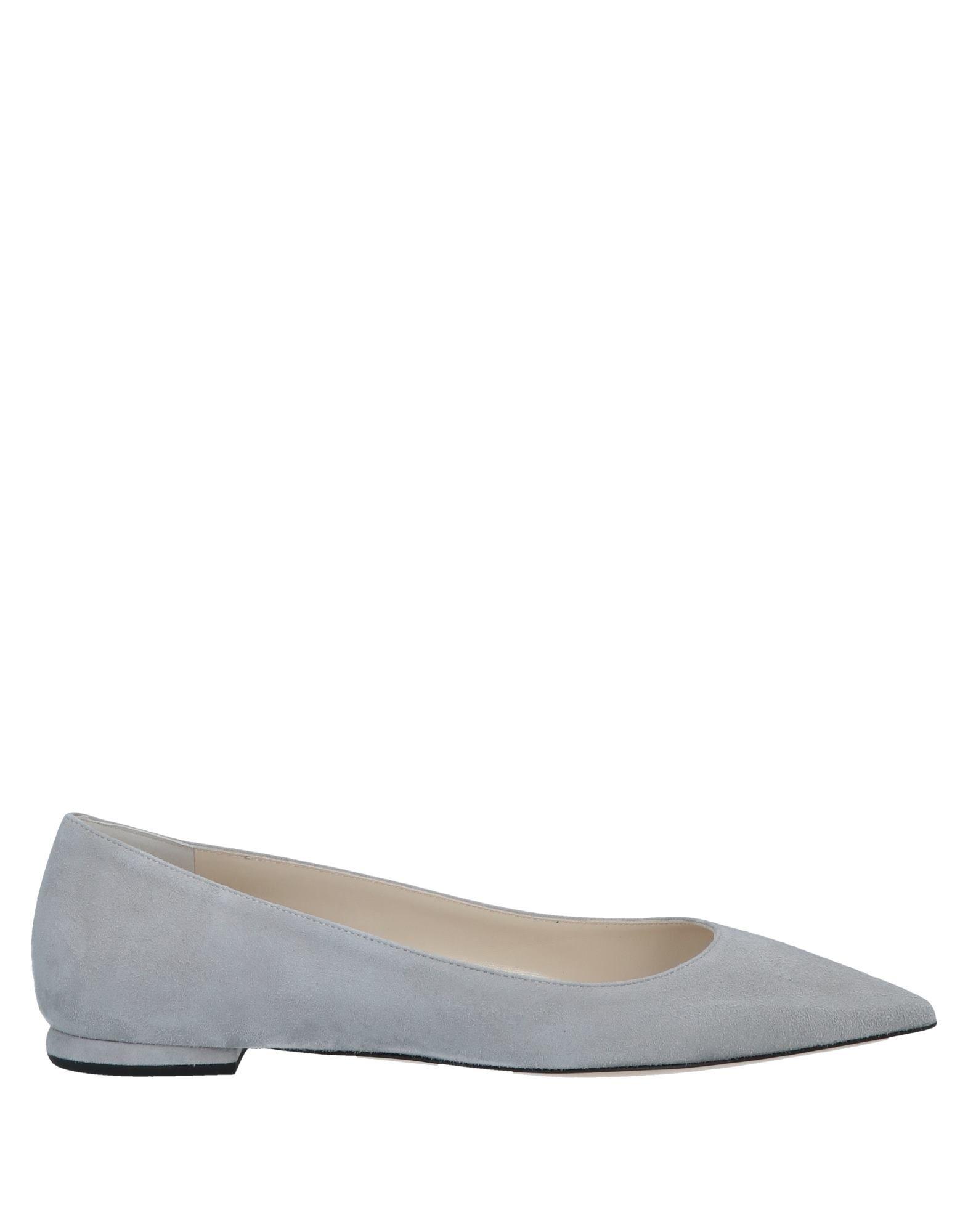 Deimille Ballet Flats In Light Grey