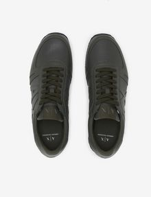 ARMANI EXCHANGE PERFORATED RETRO LOGO LOW-TOP SNEAKER Sneakers [*** pickupInStoreShippingNotGuaranteed_info ***] e