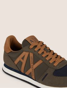 ARMANI EXCHANGE MIXED MEDIA LOGO LOW-TOP SNEAKER Sneaker Man a