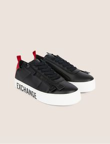 ARMANI EXCHANGE LOW-TOP-SNEAKERS IM COLORBLOCK-DESIGN MIT SEITENREISSVERSCHLUSS Sneakers Damen r