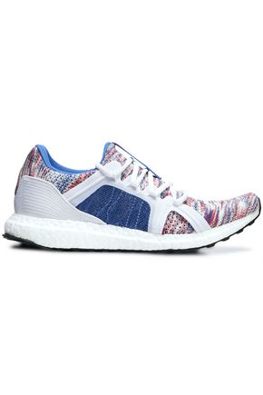 ADIDAS by STELLA McCARTNEY Mesh-trimmed mélange knitted sneakers