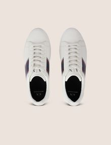 ARMANI EXCHANGE ZAPATILLAS BAJAS DE CHEVRÓN CON TEXTURA Sneakers [*** pickupInStoreShippingNotGuaranteed_info ***] e
