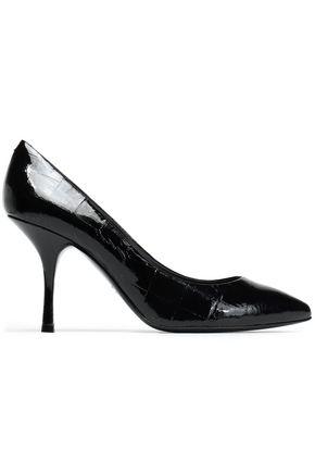 GIUSEPPE ZANOTTI Croc-effect patent-leather pumps