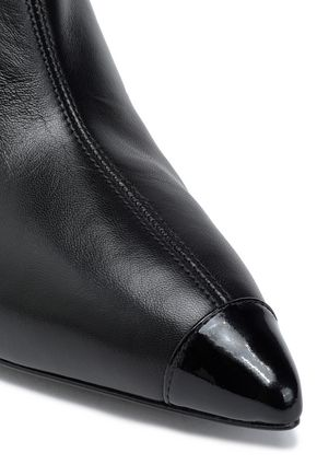 GIUSEPPE ZANOTTI Smooth and patent-leather knee boots