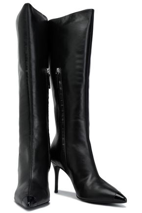 871486f87fc GIUSEPPE ZANOTTI Smooth and patent-leather knee boots