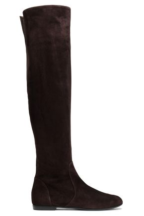 GIUSEPPE ZANOTTI Suede over-the-knee boots