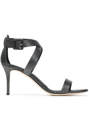 GIUSEPPE ZANOTTI Glittered leather sandals