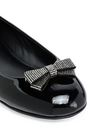 GIUSEPPE ZANOTTI Crystal and bow-embellished patent-leather ballet flats