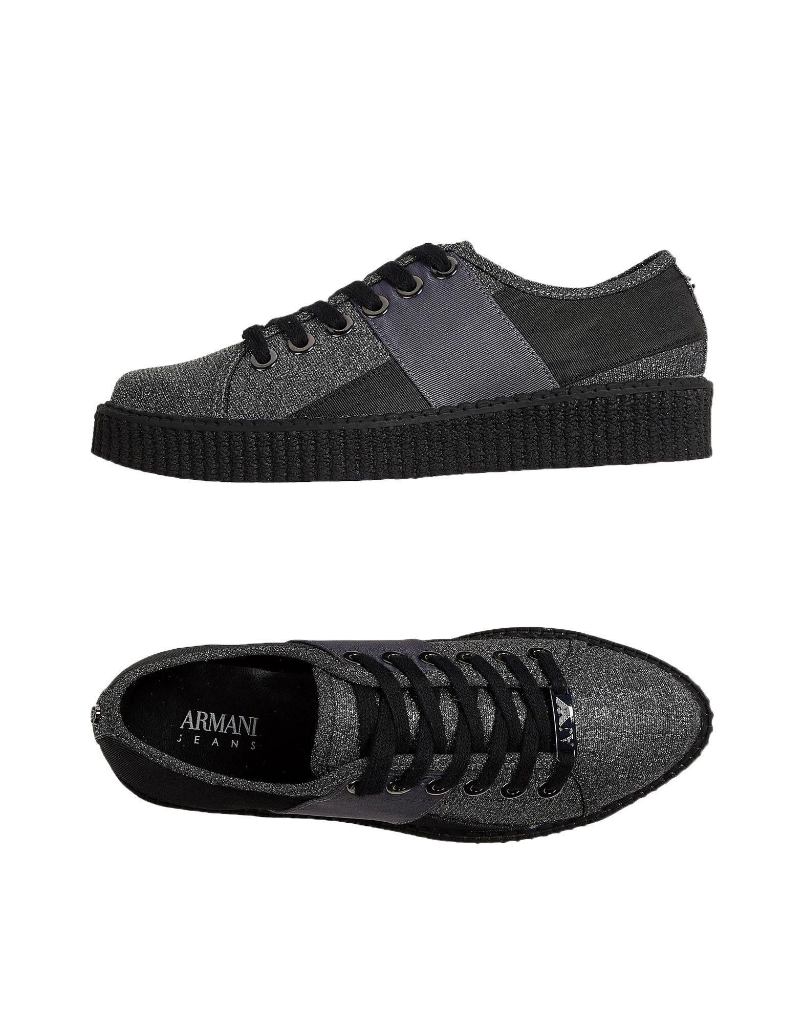 ARMANI JEANS Низкие кеды и кроссовки недорго, оригинальная цена
