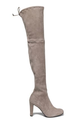 STUART WEITZMAN Suede over-the knee boots