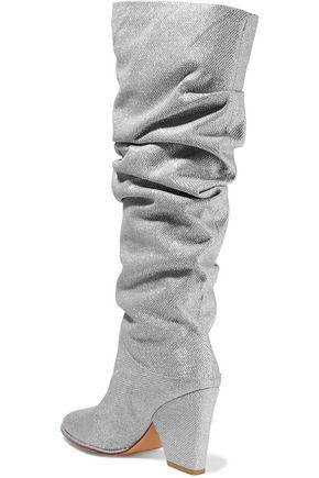 STUART WEITZMAN Smashing gathered metallic mesh knee boots