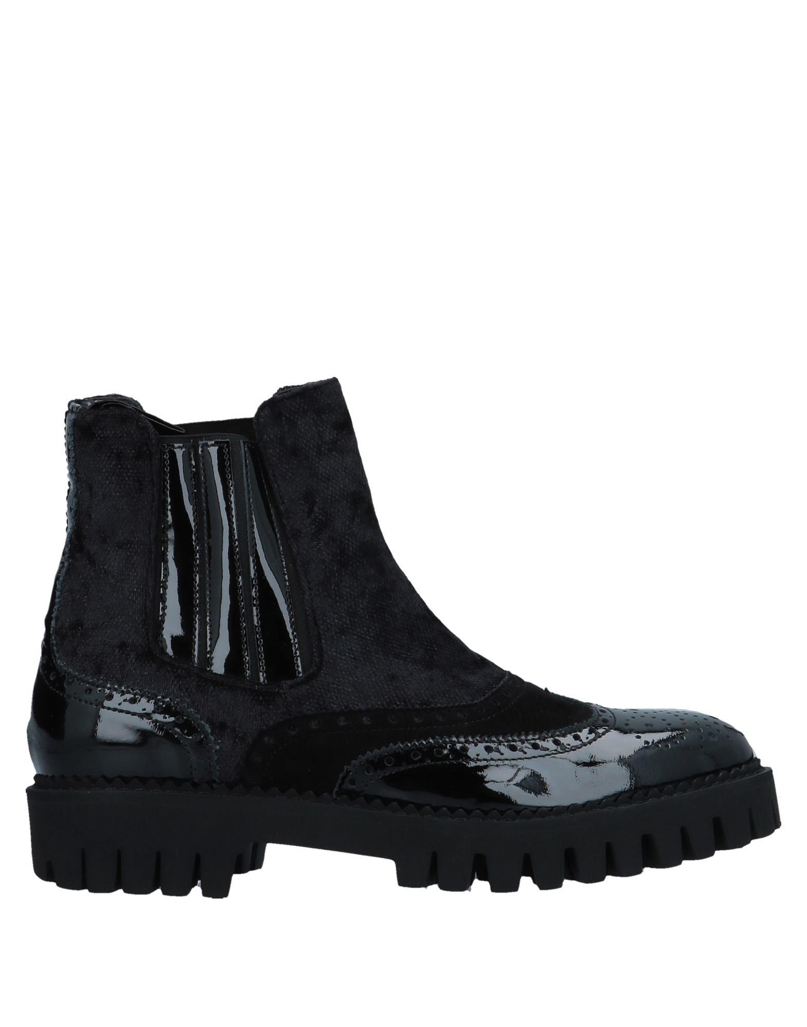 《送料無料》ALBERTO GUARDIANI レディース ショートブーツ ブラック 40 紡績繊維 / 革