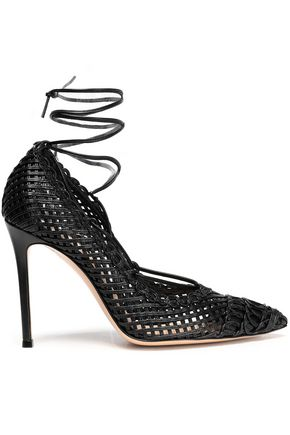 GIANVITO ROSSI Woven leather pumps