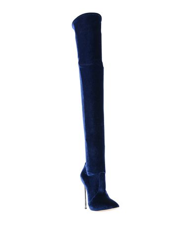 Фото 2 - Женские сапоги  темно-синего цвета