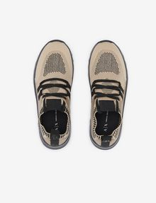 ARMANI EXCHANGE SPORT-KNIT TRICOLOR LOW-TOP SNEAKER Sneakers [*** pickupInStoreShipping_info ***] e