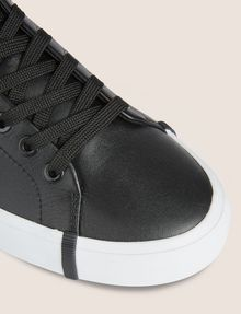 ARMANI EXCHANGE PATENT-EFFECT LOW-TOP Sneakers Woman a