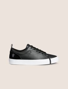 ARMANI EXCHANGE PATENT-EFFECT LOW-TOP Sneakers Woman f