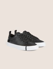 ARMANI EXCHANGE PATENT-EFFECT LOW-TOP Sneakers Woman r