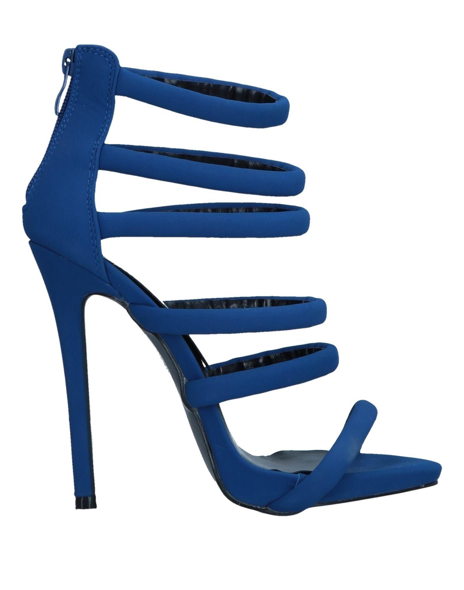 《送料無料》SEXY WOMAN レディース サンダル ブルー 36 紡績繊維
