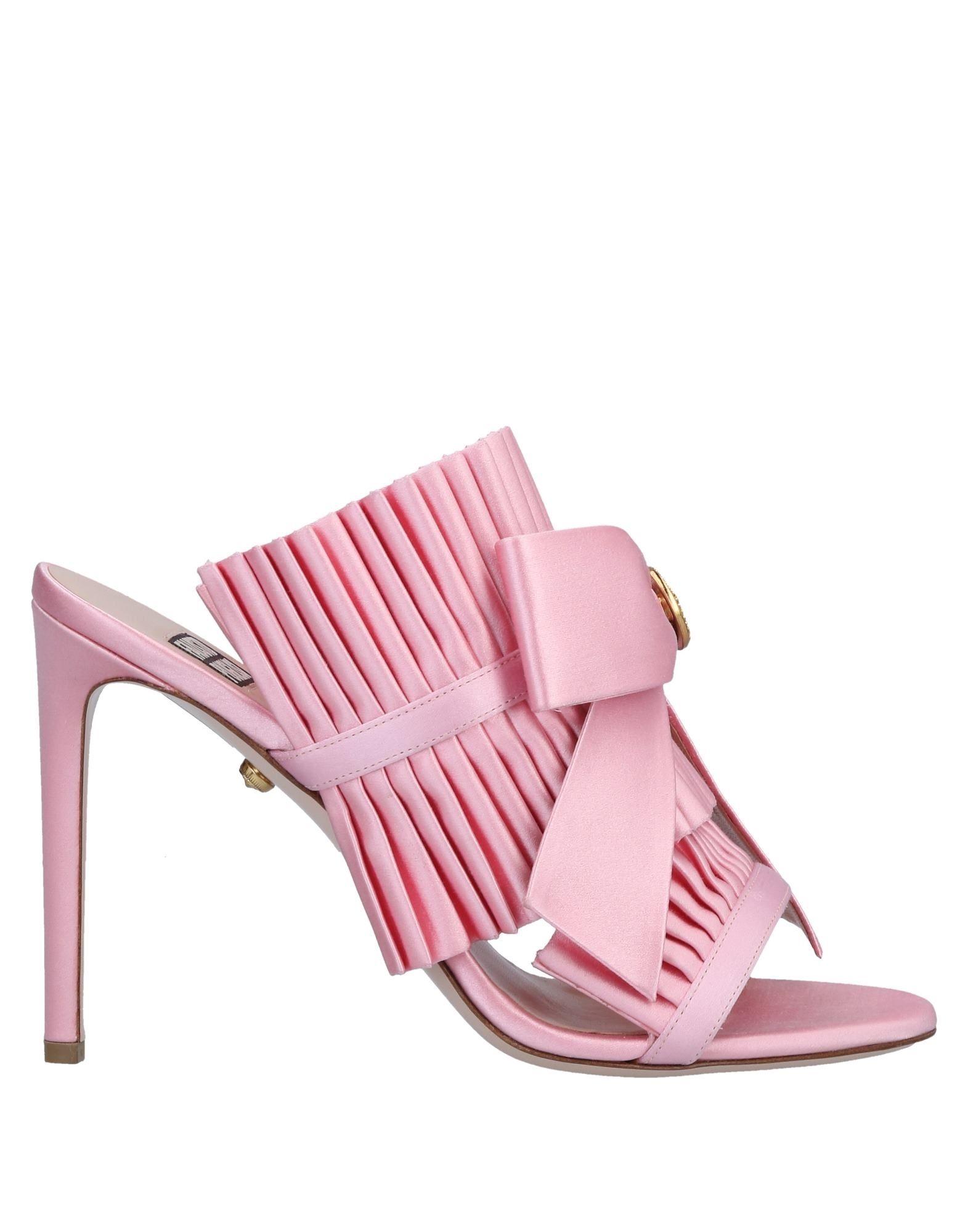 《セール開催中》FAUSTO PUGLISI レディース サンダル ピンク 36 紡績繊維