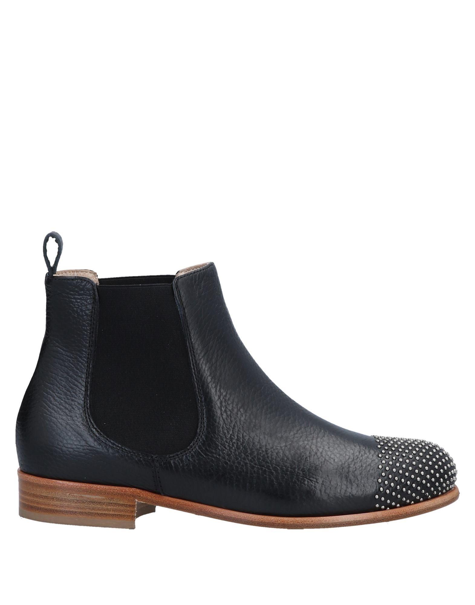 《送料無料》EMANUELA PASSERI レディース ショートブーツ ブラック 36 牛革(カーフ)
