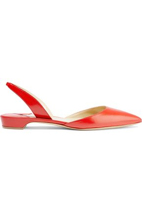 PAUL ANDREW Rhea leather slingback point-toe flats