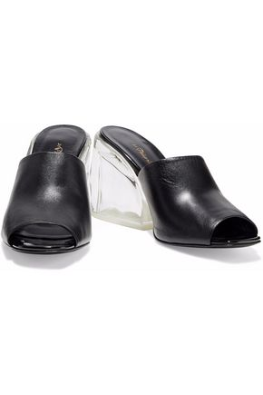3.1 PHILLIP LIM Leather and Perspex mules