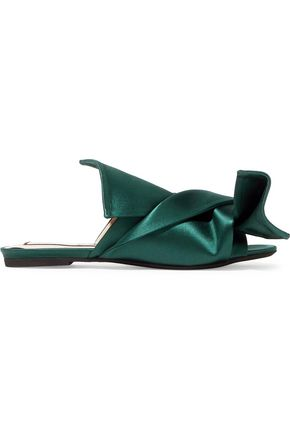 N°21 Knotted duchesse satin slides
