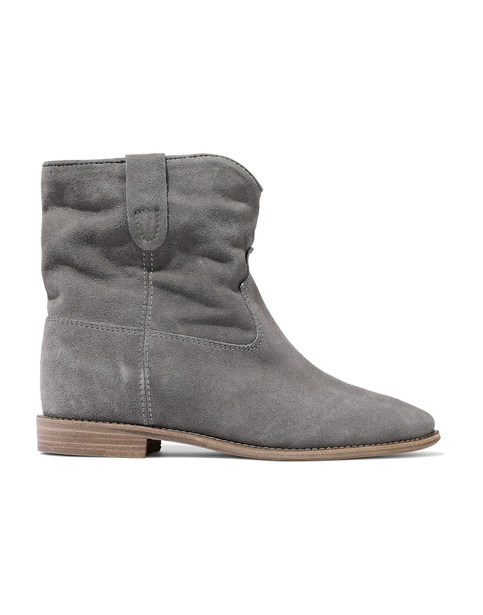ISABEL MARANT Ankle boots. suede effect, no appliqués, solid color, round toeline, flat, leather sole, leather lining, contains non-textile parts of animal origin, small sized. Soft Leather