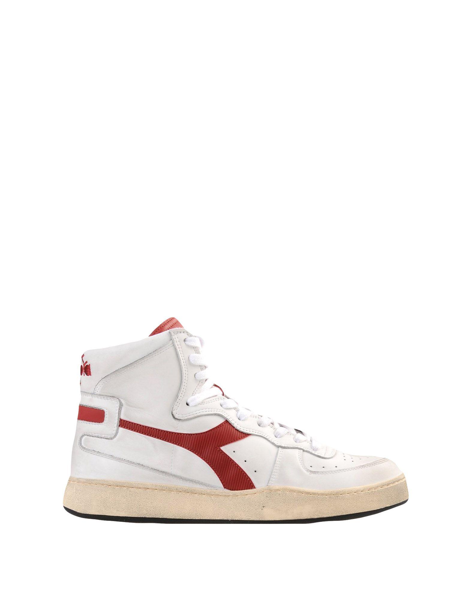 《期間限定 セール開催中》DIADORA HERITAGE メンズ スニーカー&テニスシューズ(ハイカット) ホワイト 6.5 革 MI BASKET USED