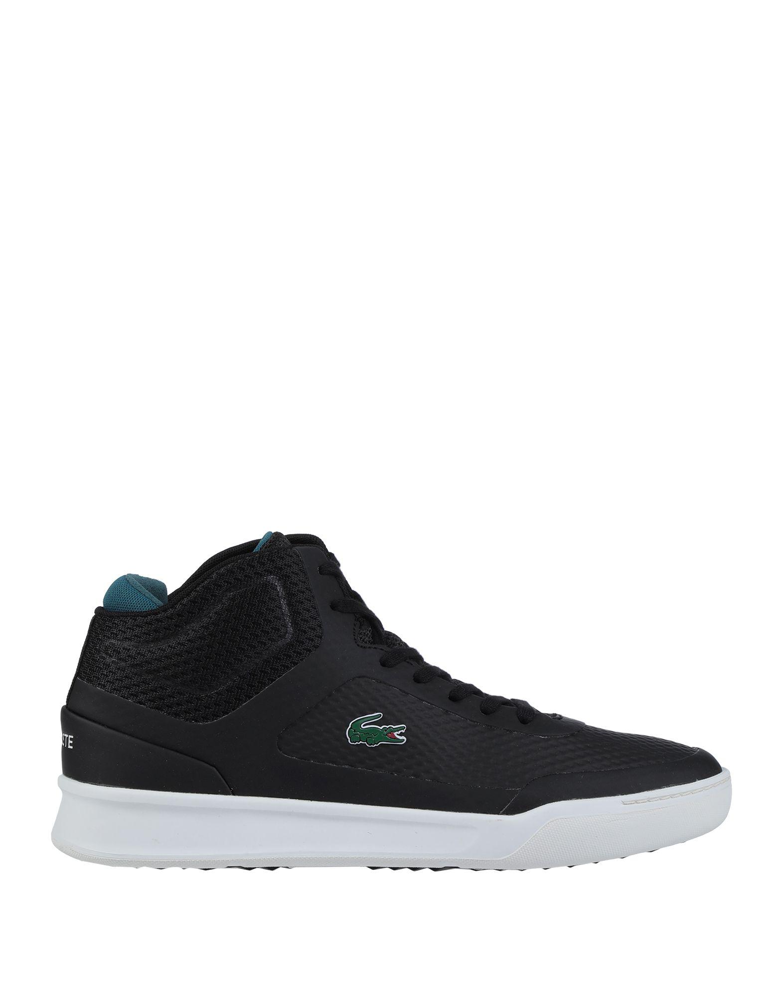 《セール開催中》LACOSTE メンズ スニーカー&テニスシューズ(ハイカット) ブラック 6 紡績繊維 / ゴム