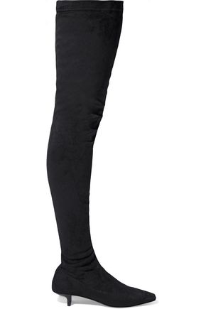 STELLA McCARTNEY Faux suede thigh boots