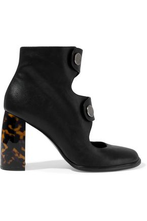 STELLA McCARTNEY Cutout faux leather ankle boots