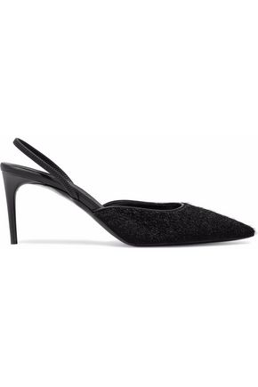 STELLA McCARTNEY Faux calf-hair slingback pumps