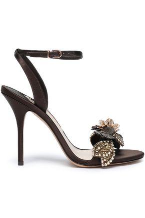 SOPHIA WEBSTER Lilico floral-appliquéd satin sandals