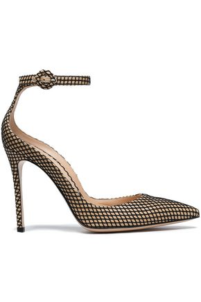 GIANVITO ROSSI Mesh and leather pumps