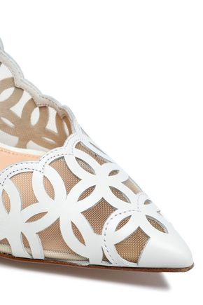 GIANVITO ROSSI Laser-cut leather pumps