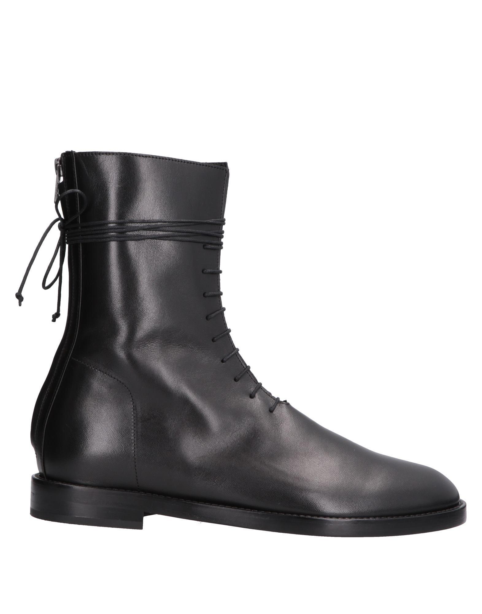 《送料無料》ANN DEMEULEMEESTER メンズ ブーツ ブラック 43 牛革(カーフ)