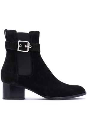 RAG & BONE Buckled suede ankle boots