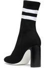 RAG & BONE Ellis striped stretch-knit sock boots