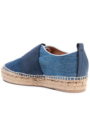 RAG & BONE Nina strap-detailed denim espadrilles