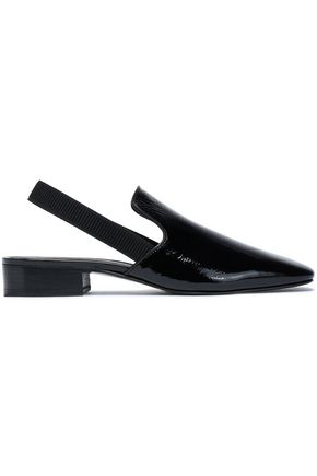 RAG & BONE Patent-leather slingback flats
