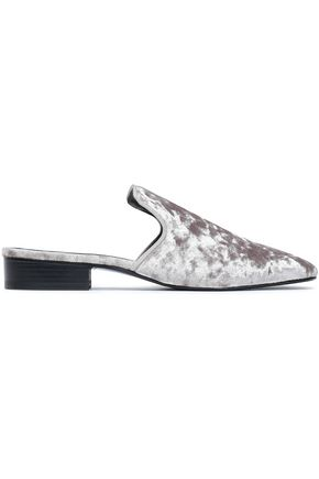 RAG & BONE Luis crushed-velvet slippers