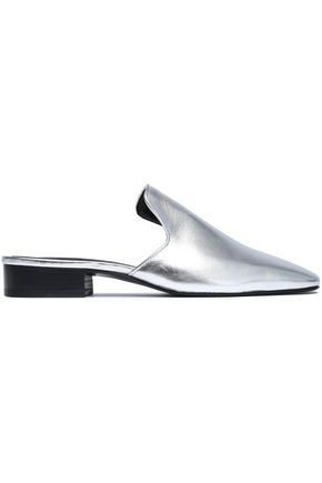 RAG & BONE Metallic leather slippers