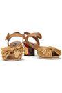 DOLCE & GABBANA Bow-embellished raffia sandals