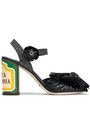 DOLCE & GABBANA Keira bow-embellished woven straw and raffia sandals