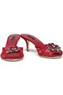DOLCE & GABBANA Embellished corded lace sandals