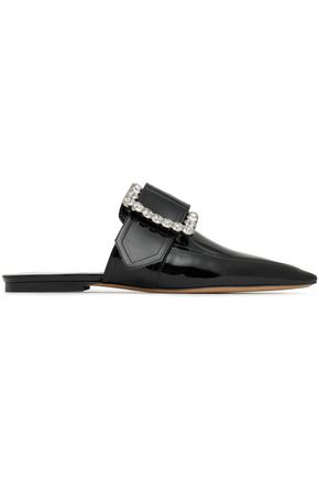 MAISON MARGIELA Embellished patent-leather point-toe flats