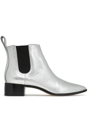 LOEFFLER RANDALL Nellie metallic leather ankle boots