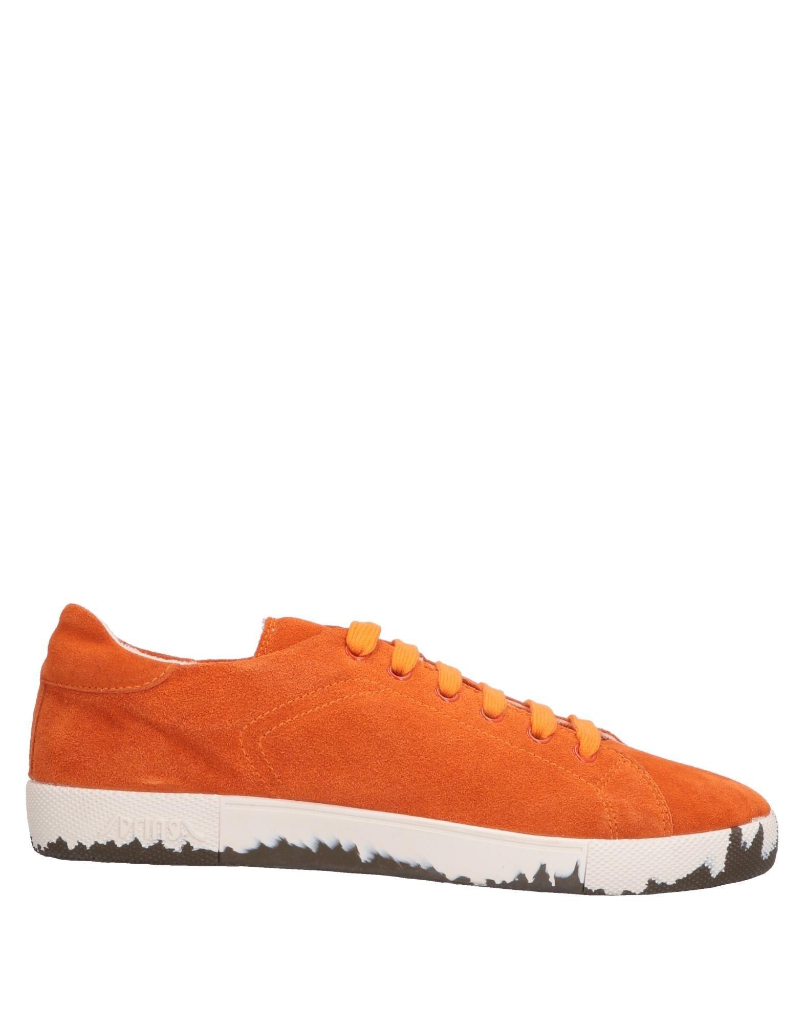 《送料無料》SPRINGA メンズ スニーカー&テニスシューズ(ローカット) オレンジ 38 革